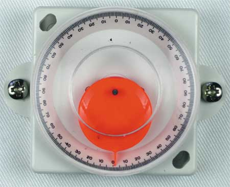 Angle Finder, 0 to 90 Deg., 2in L Base