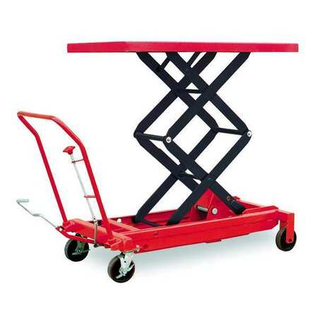 Scissor Lift Cart, 1500 lb., Steel, Fixed