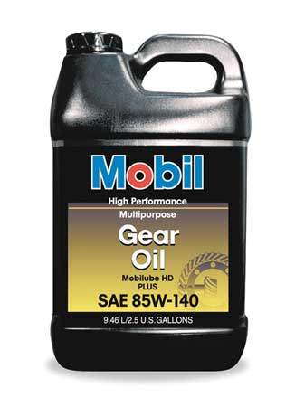 Mobilube HD Plus 85w140,  Gear Oil,  85W-140,  2.5 gal.