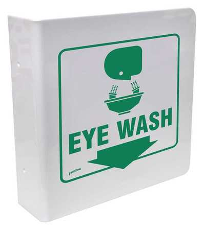 Eye Wash Sign, 12 x 9In, GRN/WHT, Eye Wash