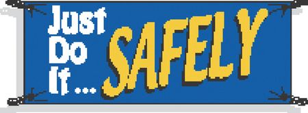 Safety Banner, 42 x 120In, Vinyl, Text, ENG