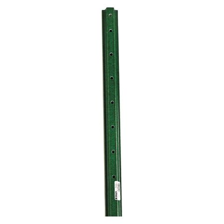 Sign Post, 8 ft. L, Composite, Green