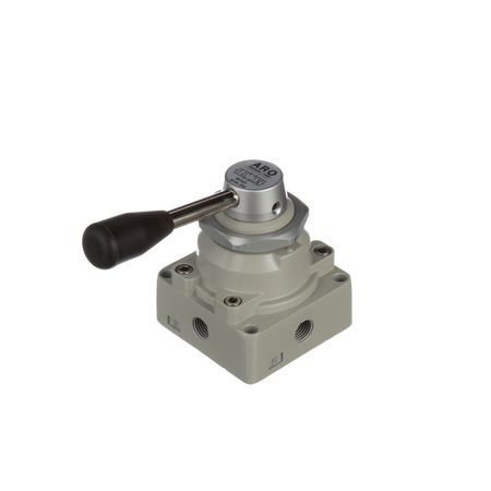 Manual Air Control Valve, 4-Way, 1/4in NPT