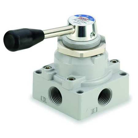 Manual Air Control Valve, 4-Way, 3/8in NPT