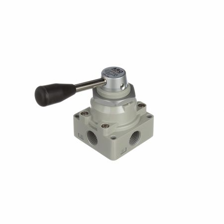 Manual Air Control Valve, 4-Way, 1/2in NPT