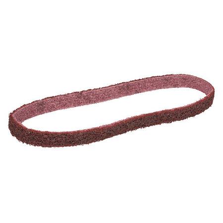 Sanding Belt, 1/2Wx18 L, NonWoven, AO, Med