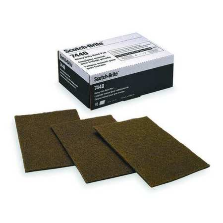 61500301025 SCOTCH-BRITE Sanding Hand Pad Gray Med Silicon Carbide