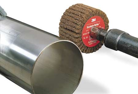 Flap Wheel, NonWovn, AO, 3x1.75x1/4 Shk, MED