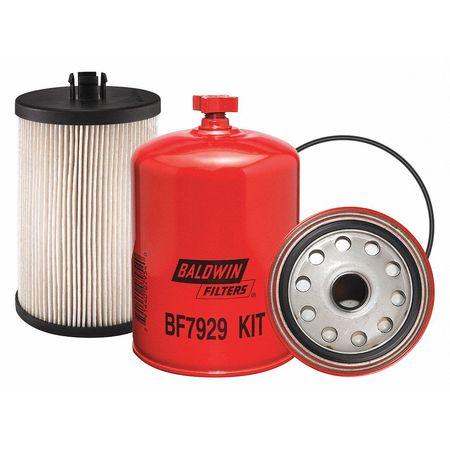 Baldwin Filters Fuel Filter, 6-25/32 x 4-5/16 x 6-25/32In BF7929 KIT