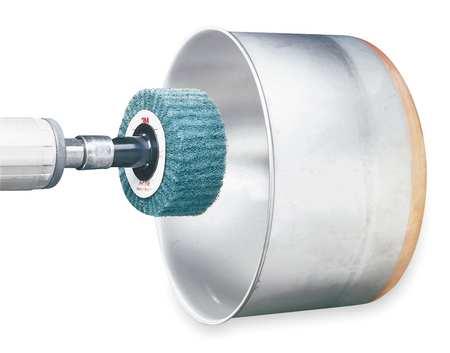 Flap Wheel, NonWoven, SC, 3x1.75x1/4 Shk, FN