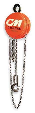 Manual Chain Hoist, 4000 lb., Lift 10 ft.
