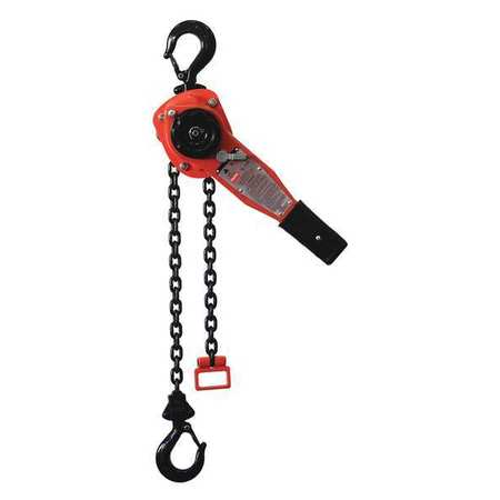 Lever Chain Hoist, 3300 lb., Lift 20 ft.