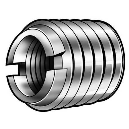 Thread Insert, Stl, 1/4-28, 3/8L, Pk10