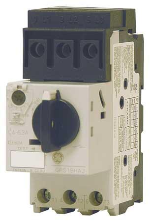 Manual Motor Protector, 6.3A, Rotary Knob
