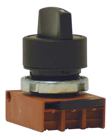 Non-Illum Selector Swtch, 22mm, 3 Pos, Knob