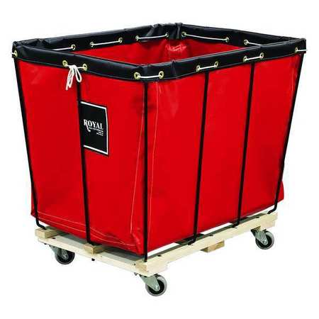 Knock Down Basket Truck, 12 Bu, Red Vinyl