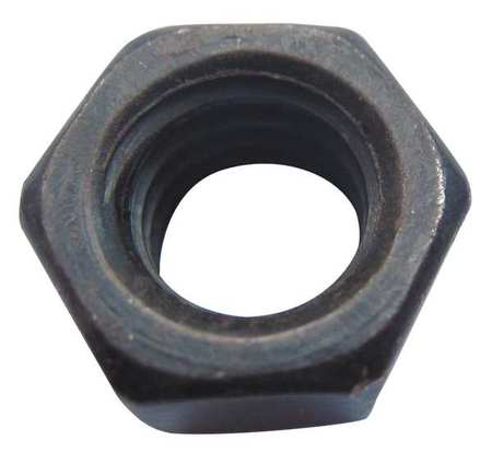 "1/2""-20 Grade 5 Black Oxide Finish Carbon Steel Hex Nuts,  25 pk."