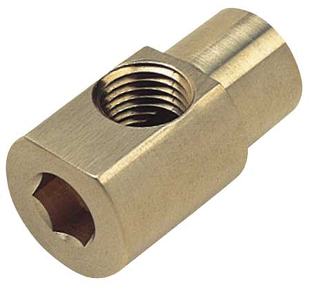 "1/4"" x 1/8"" FNPT Chrome Plated Brass Hex Key Elbow"