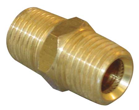"1/2"" MNPT x MBSP Brass Hex Conversion Nipple"