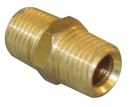 "1/4"" BSP x NPT Chrome Plated Brass Male Hex Nipple"