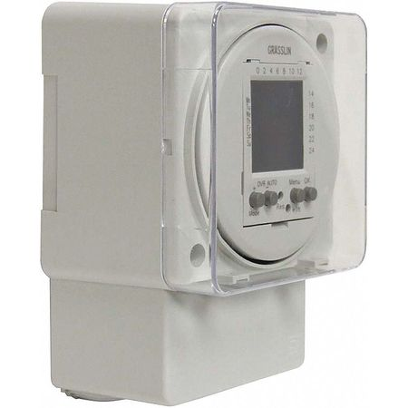 Electronic Timer, 24 hr/7 Days, SPDT-NO/NC