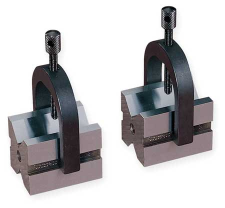 V-Block/Clamp Set, 2 Ea, 1 In Cap