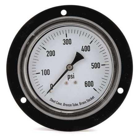 Panel Mount Pressure Gauge, 3-1/2 In