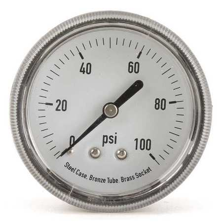 Panel Mount Pressure Gauge, U Clamp, 2-1/2
