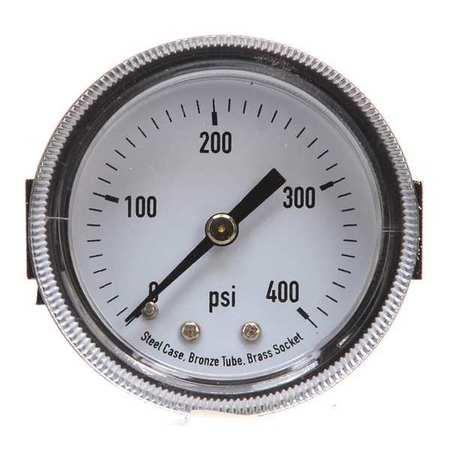 Panel Mount Pressure Gauge, U Clamp, 2 In