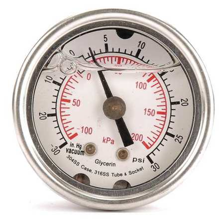 Compound Gauge, Liquid Filled, 1-1/2 In