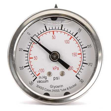 Compound Gauge, Liquid Filled, 2 In