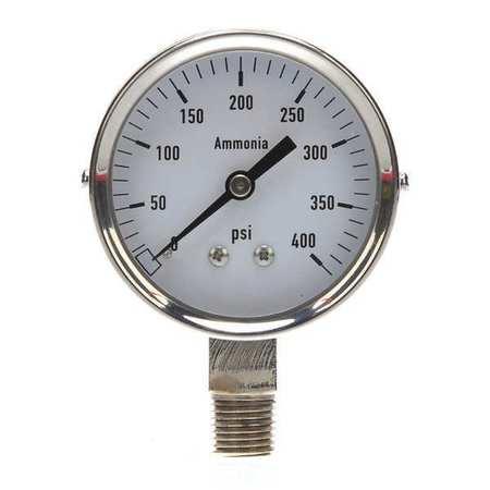 Pressure Gauge, Ag Ammonia, 2 1/2In, 400Psi