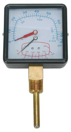 Tridicator Boiler Gauges