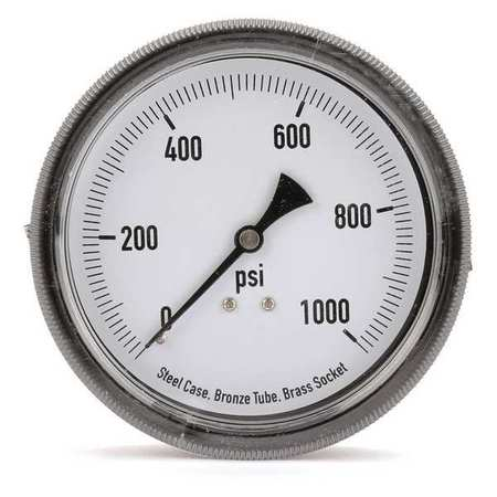 Panel Mount Pressure Gauge, U Clamp, 3-1/2