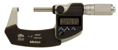 Electronic Micrometer, 1-2 In, 0.00005 In