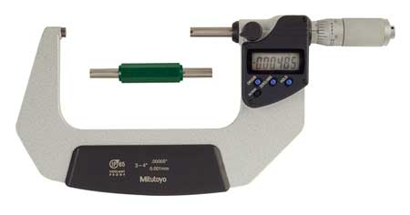 Electronic Micrometer, 3-4 In, 0.00005 In