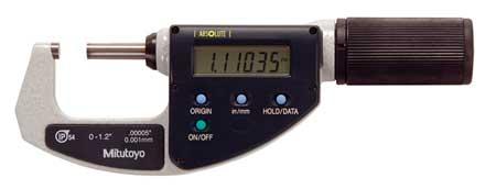 Quick Micrometer, 0-1.2 In, 0.00005 In