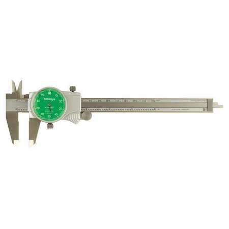 Dial Caliper, 6 In, Green, 0.100/Rev