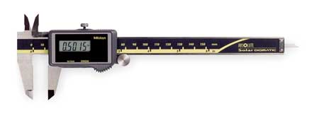 Absolute Solar Digital Caliper, 0 to 6 In