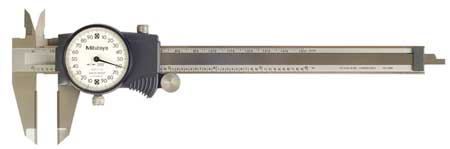 Dial Caliper, 6In, 0.200/Rev, Carbide