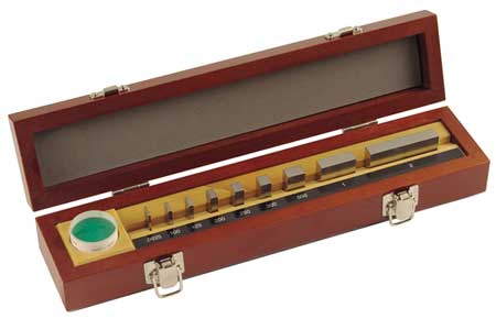 Gage Block Set, Optical, 0.625-2, 9Pc