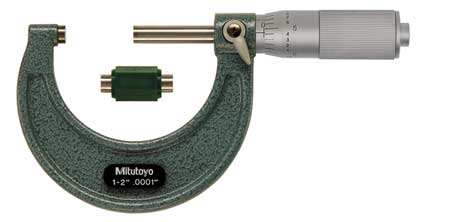 Micrometer, 1-2 In, 0.0001 In, Friction
