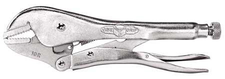 Locking Pliers, Plain Grip, 10 In. L