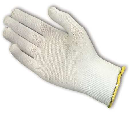 Cut Resistant Glove, White, Reverse, XL