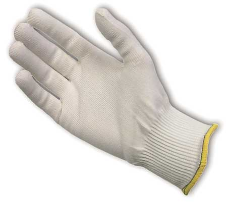 Cut Resistant Glove, White, Reversible, L