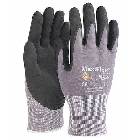 Coated Gloves, S, Black/Gray, PR
