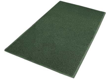 Carpeted Entrance Mat, Green, 4ft. x 6ft.