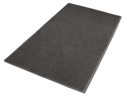 Carpeted Entrance Mat, Gray, 4ft. x 6ft.
