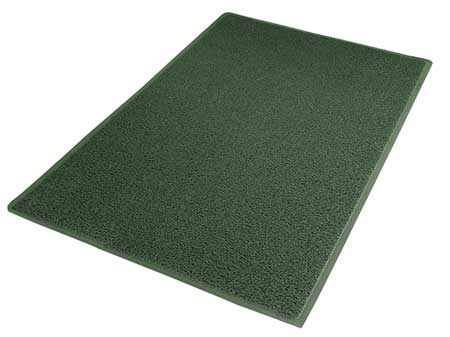 Carpeted Entrance Mat, Green, 3ft. x 5ft.