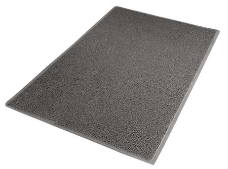 Carpeted Entrance Mat, Gray, 3ft. x 5ft.